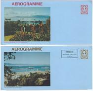 Gibraltar, 2 Bild-Aerogramme **, 18 P + (12+10)P - Gibraltar