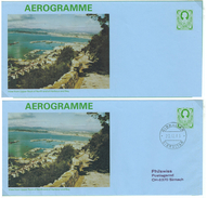 Gibraltar, 2 Bild-Aerogramme ** + O, 15 P - Gibraltar