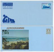 Gibraltar, 2 Aerogramme **, Zu 12 P - Gibraltar