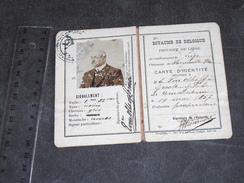 HERMALLE SOUS ARGENTEAU CARTE IDENTITE DEL. A E. GROOTE VON OLHOFF Né à Amterdam Le 19/5/1857 - Documents Historiques