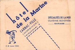 CARNAC  - Carte De Visite De L'Hôtel De La Marine - Visiting Cards