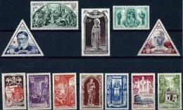 """Monaco YT 353 à 364 """" Année Sainte """" 1951 Neuf* - Unused Stamps"""