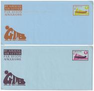 Gibraltar, 2 Aerogramme **, 8 P Und 10 P - Gibraltar