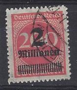 Germany 1923  2Mio Auf 200m (o) Mi.309 B Pa (nicht Gepruft) - Oblitérés