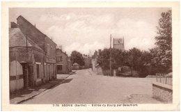 72 SEGRIE - Entrée Du Bourg Par Beaumont  (Recto/Verso) - France