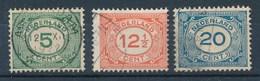 Niederlande 1921 Mi. 107 + 108 + 109 Gest. Ziffer - 1891-1948 (Wilhelmine)