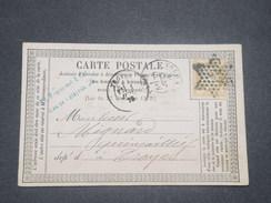 FRANCE - Carte Précurseur De Paris Pour Troyes En 1875 , Oblitération étoile Sur Cérès - L 8419 - Precursor Cards