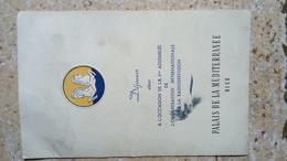 PALAIS DE LA MEDITERRANEE NICE 1947 ORGANISATION INTERNATIONALE DE LA RADIODIFFUSION - ASSEMBLEE DEJEUNER - AUTOGRAPHES - Autographs