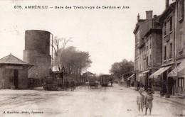 675- AMBERIEU- Gare Des Tramways De Cerdon Et Ars- CPA - Francia