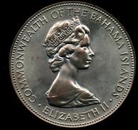 BAHAMAS 5 DOLLARS 1973 AG SILVER - Bahamas