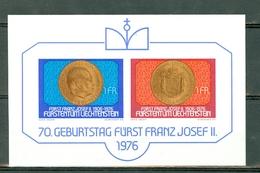 Liechtenstein 1976 Yv. Bf 13**, Mi Bl 10** - Cat. Yv. € 3,50 - Blocks & Sheetlets & Panes