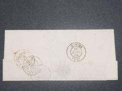 """FRANCE - Marque D 'entrée """" Angl. Amb . Calais """" Sur Lettre , Cachet De Buenos Ayres Au Dos En 1868 - L 8429 - Marcofilia (sobres)"""
