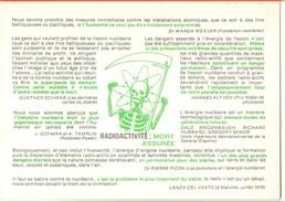 Alerte Atomique-radiactivité Mort Assuré--cpm - Satiriques