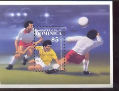 DOMINICA  978 ; 939  OP WINNERS ; MNH FOOTBALL-SOCCER  1986  MEXICO - Unclassified