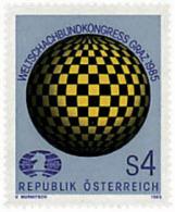 Ref. 30701 * NEW *  - AUSTRIA . 1985. CONGRESS OF THE INTERNATIONAL CHESS FEDERATION IN GRAZ. CONGRESO DE LA FEDERACION - 1945-.... 2nd Republic