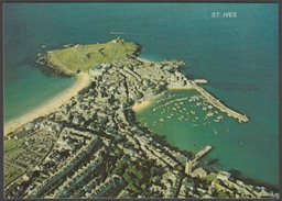 Aerial View Of St Ives, Cornwall, 1978 - Murray King Postcard - St.Ives