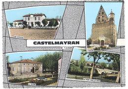 Cpsm Multivues - Castelmayran ( écoles, Mairie, église, Pont Sur La Sere ) - Autres Communes