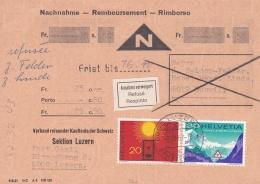 Switzerland COD/Nachnahme 1976 However Label With Text: Annahme Verweigert - Refuse Respinto (T18-32) - Switzerland