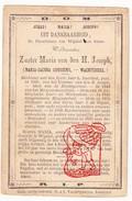 DP Zr. Overste Maria Jacoba Goossens ° Wachtbeke † 1869 Gesticht Wijnkel Sint-Kruis-Winkel Gent Imschoot De Feyte - Andachtsbilder
