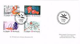 24551. Tarjeta Souvenir BARCELONA 1992. Olimpiadas, 2ª Emision Pre Olimpica, Num 2994-2997 - 1931-Hoy: 2ª República - ... Juan Carlos I