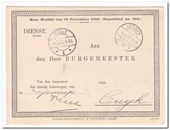 Briefkaart 1909 Van Gennep Naar Cuyk, Vergadering Personeele Belasting - Brieven En Documenten