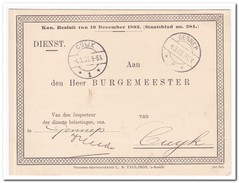 Briefkaart 1909 Van Gennep Naar Cuyk, Vergadering Personeele Belasting - Periode 1891-1948 (Wilhelmina)