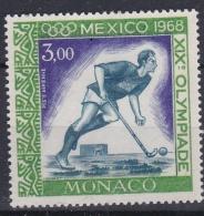 MONACO  :  Y Et T  PA  92  Neuf  XX  MNH  JO De Mexico     Cote  1,90  Euros - Poste Aérienne