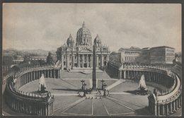 La Basilica, Piazza San Pietro, Città Del Vaticano, C.1910 - Verdesi Cartolina - Vatican