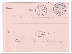 Briefkaart 1909 Van Nijmegen Naar Cuyk - Periode 1891-1948 (Wilhelmina)