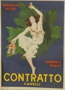 MANIFESTO PUBBLICITARIO CONTRATTO CANELLI Illustratore CAPPIELLO LEONETTO - Affiches