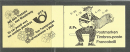 SWITZERLAND SUISSE SCHWEIZ SVIZZERA 1979 FOLKLORE FOLCLORE COSTUMES COSTUMI BOOKLET LIBRETTO CARNET MNH - Blocchi