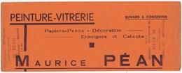 """Buvard Publicitaire Peinture-Vitrerie """"Maurice PEAN"""" 179, Rue Nationale ARNAGE (72) - Paints"""
