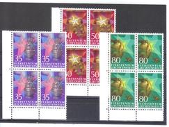 RTY317 LIECHTENSTEIN 1985 MICHL 884/86 ECKRAND-VIERERBLÖCKE ** Postfrisch - Liechtenstein