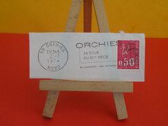 Marcophilie (Flamme) - 59 Nord, Orchies, Sa Tour Du XIV Siècle - 1974 - Storia Postale