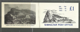 GIBRALTAR GIBILTERRA 1981 BOOLET CARNET LIBRETTO £ 1 DEVINITIVES STAMPS ANCHIRAGE OF THE OLD MOLE MNH - Gibilterra