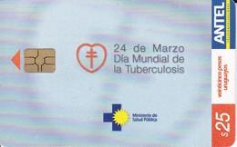 Nº 277 TARJETA DE URUGUAY DEL DIA MUNDIAL DE LA TUBERCULOSIS - Uruguay