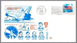 LANDING STS-27 SHUTTLE MISSION. Edwards CA 1988 - FDC & Commemoratives