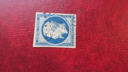 Napoleon N° 14 Oblitération PC 3738 Tenez Algerie - 1853-1860 Napoléon III