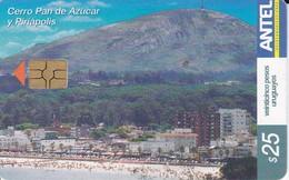 Nº 286 TARJETA DE URUGUAY DEL CERRO PAN DE AZUCAR Y PIRIAPOLIS - Uruguay