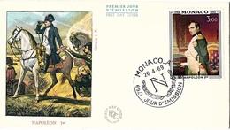 MON-L21 - MONACO  FDC PA 94 Bicentenaire De La Naissance De Napoléon 1er - FDC