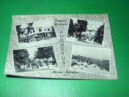 Cartolina Misano Adriatico - Pensione Ristorante Augustus - Vedute Diverse 1960 - Rimini
