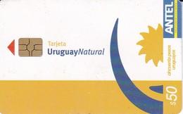 Nº 307 TARJETA DE URUGUAY NATURAL 50$ - Uruguay