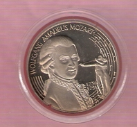 OOSTENRIJK 5 ECU 1996 WOLFGANG AMADEUS MOZART - Jetons & Médailles