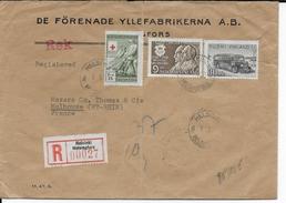 FINLANDE - 1950 - ENVELOPPE RECOMMANDEE De HELSINKI => MULHOUSE - Finland