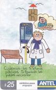 Nº 318 TARJETA DE URUGUAY DE DIBUJO ESCOLAR 1º PREMIO - Uruguay