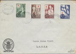 FINLANDE - 1945 - SERIE CROIX-ROUGE COMPLETE Sur ENVELOPPE => LAPUA - Briefe U. Dokumente