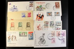 BICYCLES & CYCLING 1947-1996 World Collection Of All Different Illustrated Unaddressed First Day Covers, All... - Stamps