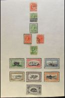 BRITISH SOUTH ATLANTIC OCEAN 1884-1970's MOSTLY MINT COLLECTION On Leaves, Mainly All Different,  Inc Ascension... - Stamps