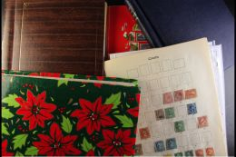 GB & COMMONWEALTH JUNKER CARTON Severn Albums Plus Loose With Mostly Used Collections Of QV To QE Stamps, Some... - Stamps