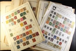 WORLD SMALL SORTER An All Period, Chiefly Used, All Different World Collection On A Pile Of Album Pages In A Small... - Stamps